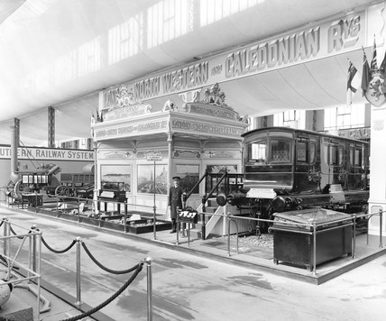 LNWR display at the Anglo-American Exhibition, London, 1915.