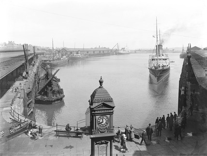 The SS 'Cambria' at Holyhead Harbour, Anglesey, c 1927