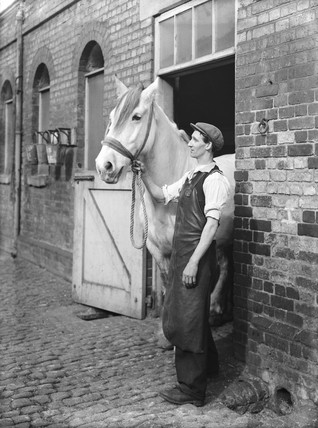 St Pancras Station's King's Road stables, London, 1936.