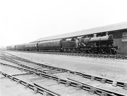 Royal Train at Derby, 1921.