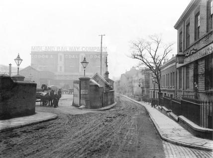 Midland Railway goods offices at Poplar Dock, London, 1898.