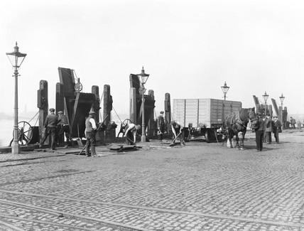 Midland Wharf at Victoria Dock, London, 1898.