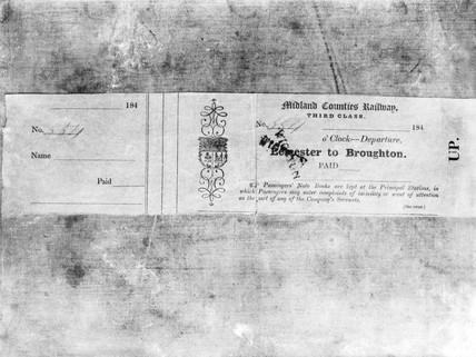 Railway ticket, c 1840s.