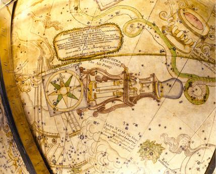 Celestial globe, 1766.