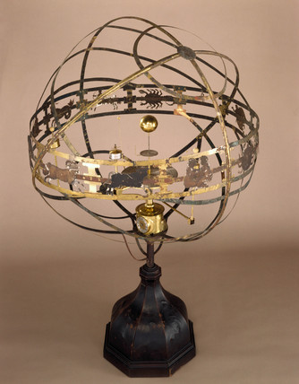 Large orrery with eight-day clock by Charles Butcher, 1733.