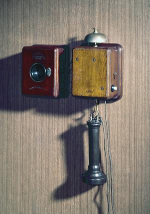 Wall telephone using a Blake transmitter, c 1880s.