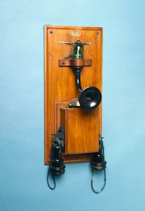 Silvanus P Thompson's 'valve' telephone, 1882-85.