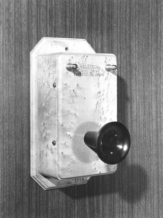 Bell's early wall telephone, c 1878.