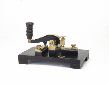 Morse key, c 1850-1870.