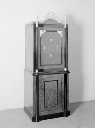 Iron safe, c 1880.