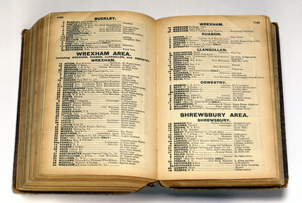 National Telephone Company directory, 1898-1899.