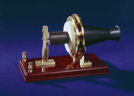 Bell's centennial telephone transmitter, 1876.