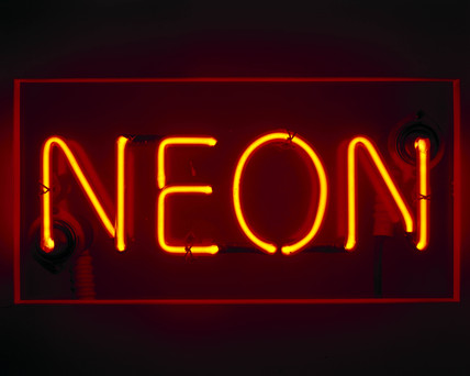 Neon sign,  1930s.