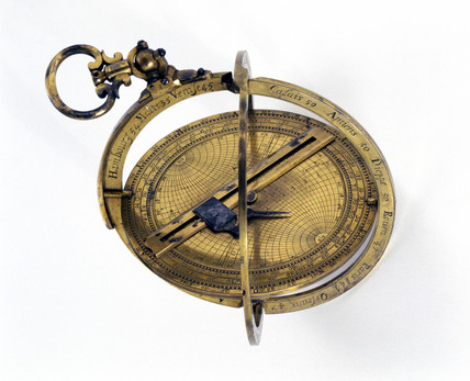 Bras armillary astrolabe, 1661.