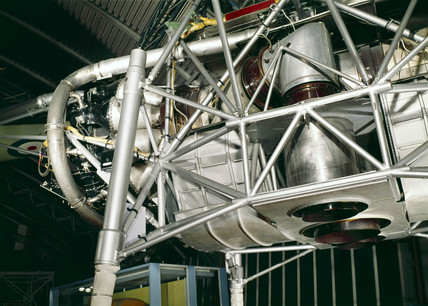 The Rolls-Royce vertical take-off-thrust measuring rig, 1954.