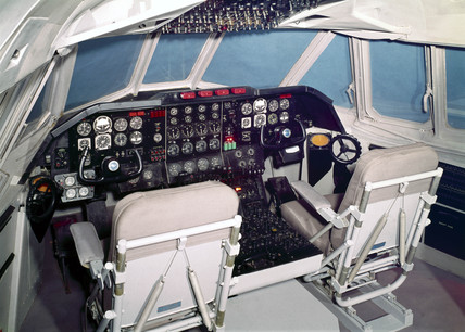 Vickers Vanguard cockpit, 1959.