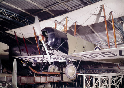 Avro 504K biplane D7560 with 130hp Clerget engine, c 1917.