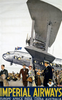 Imperial Airways poster, 1936.