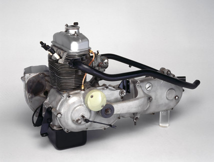Triumph Tigres 250cc motorcycle engine, 1961.