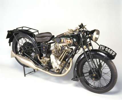 BSA 'Sloper' motorcycle, 1927.