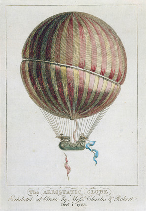 'The aerostatic Globe', 1783.