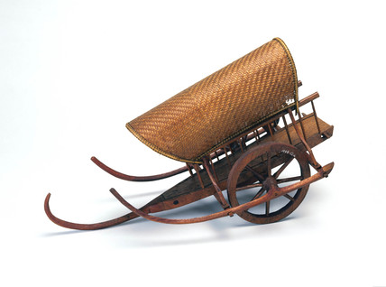 Siamese covered cart.