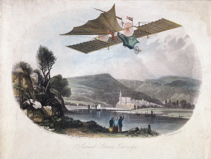 Henson's 'aerial Steam Carriage', 1843.