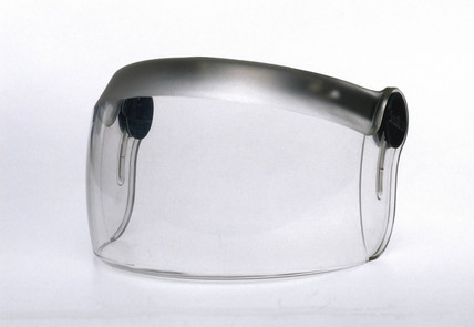 Visor made of polycarbonate, 1975.