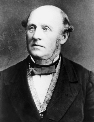 Alexander Parkes, inventor of the first synthetic plastic, c 1870-1879.