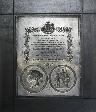 Metal plaque mould, dated 1 May 1851.