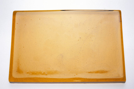 Slab of yellow cast glas, 1968.