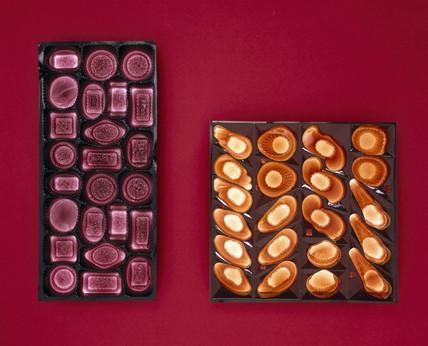 Two plastic Cadbury's chocolate trays, 1985.