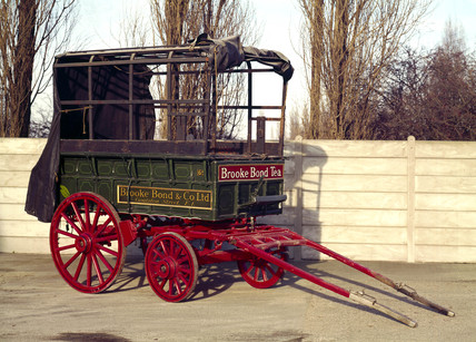 Horse-drawn Brooke Bond van, c 1930.
