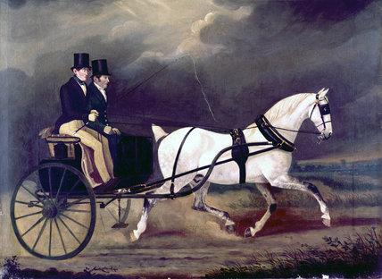 A Stanhope gig, c 1815-1830.