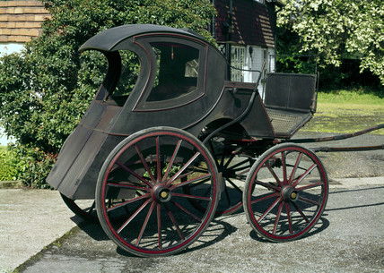 Closed carriage, mid 19th century.