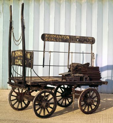 Coal trolley, c 1910.