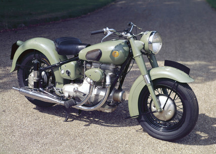 Sunbeam S7 500 cc motorcycle, 1951.