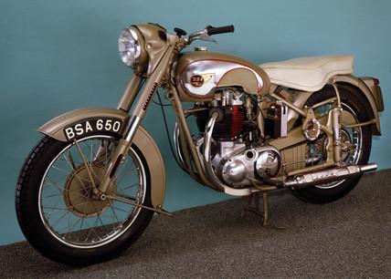 BSA 'Golden Flash' motorcycle, 1953.