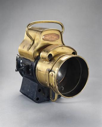 Salisbury acetylene headlamp, 1902.