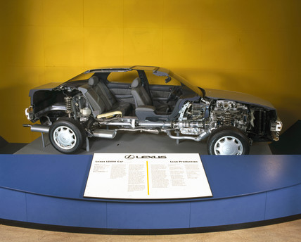 Lexus LS400 car, sectioned, 1990.