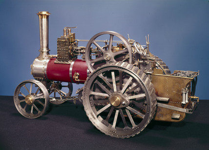 Burrell traction engine, c 1900.