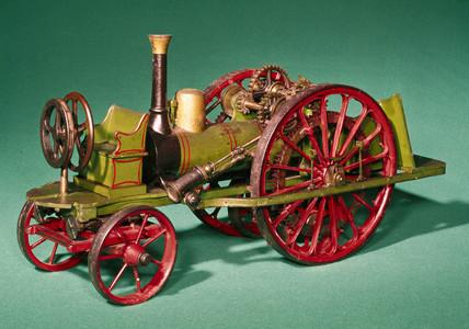 Steam traction engine, mid 19th century.