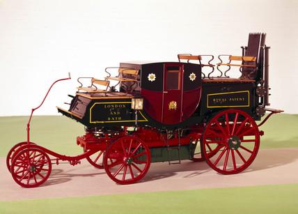 Goldsworthy Gurney steam coach, 1827.
