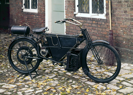 Pearson and Cox 3 hp steam bicycle, 1912.