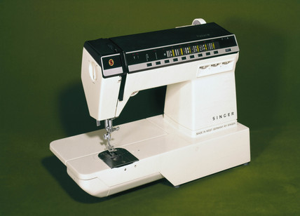 The Singer Futura sewing machine, 1976.