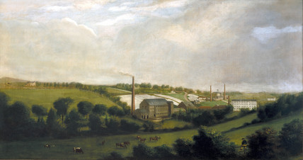 Linen mill, Repubic of Ireland, c 1840.