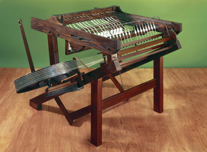 Hargreaves's original Spinning Jenny, c 1765.