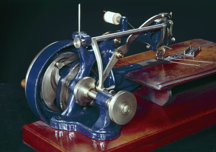 Thomas lock-stitch sewing machine, c 1853.