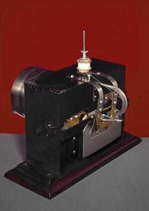 Judkins' lock-stitch sewing machine, 1851.
