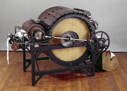 Carding engine, 1800-1830.
